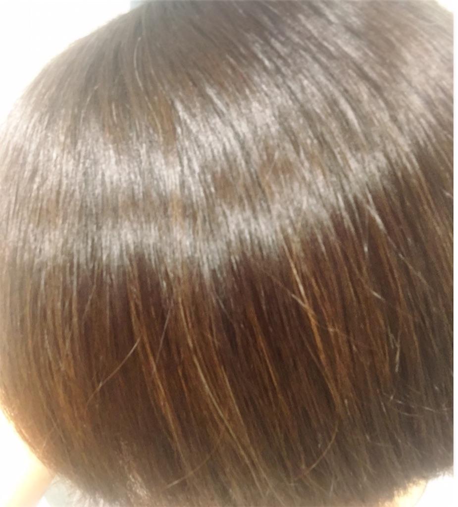 mogansを使って1週間後の髪(髪がツヤツヤ)